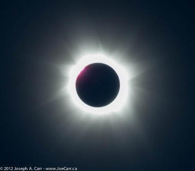 The Sun in eclipse totality - 3rd contact & diamond ring