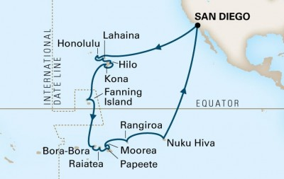 2014 Hawaii-Polynesia Cruise map