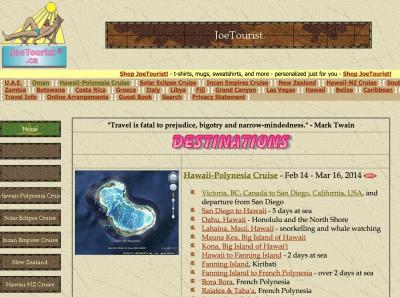 JoeTourist.ca - old website