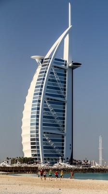 Burj Al Arab hotel and the adjacent beach