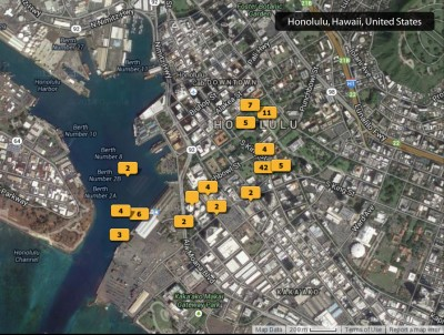 2014 Honolulu photos map