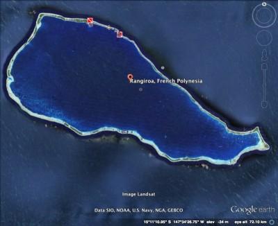 Rangiroa satellite image
