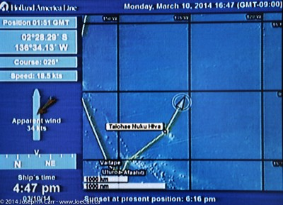 Ship's position - March 10, 2014