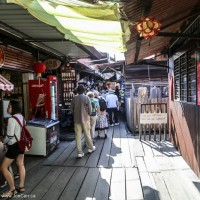 Shops along the boardwalk The Clan Jetty - original Chinese community in Georgetown, Penang, Malaysia