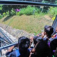 The funicular train, Penang Hill in Georgetown, Penang, Malaysia