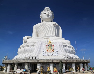 Big Buddha against a blue sky in Phuket, Thailand