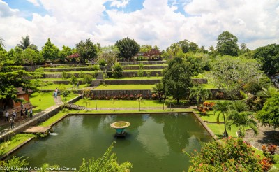 Terraces and the artifical lake, Narmada Water Palace, Lombok, Indonesia