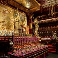 Main alter - Buddha Tooth Relic Temple, Chinatown, Singapore