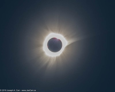 The diamond ring and lots of plasma streamers as Totality ends
