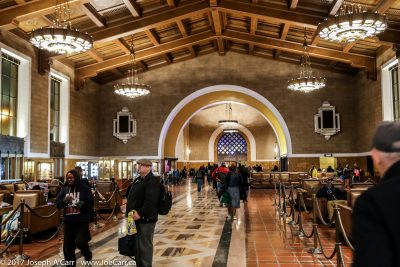 Main waiting area in LA's Union Station