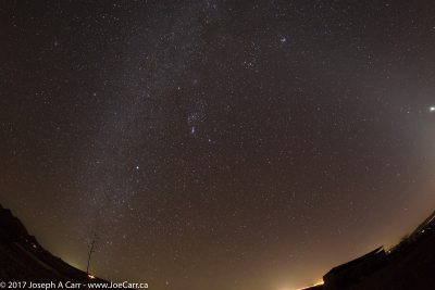 Fisheye view of the southern night sky from Dragoon Mountains Ranch