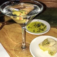 Classic Martini, bread, oil & vinegar