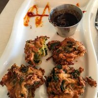 Pakoras and Tamarind sauce