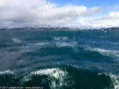 Rough seas as the Victoria Clipper passes Port Townsend into Juan de Fuca Strait
