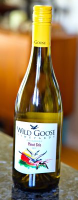Wild Goose Pino Gris white wine bottle