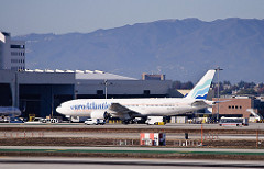 EuroAtlantic Boeing 777 in LAX