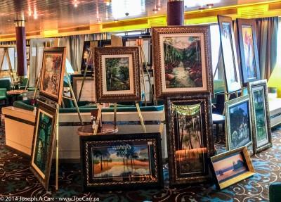 Paintings for sale in the Ocean Bar