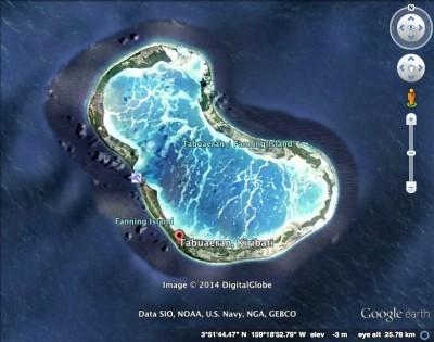 Fanning Island Satellite map
