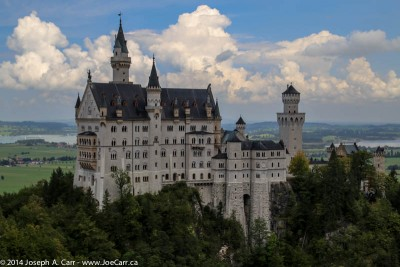 Neuschwahstein Castle from Mary's Bridge, Bavaria, Germany
