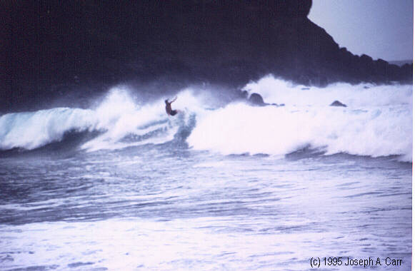 Surfers had all the wave action they could handle on the NW coast of Maui