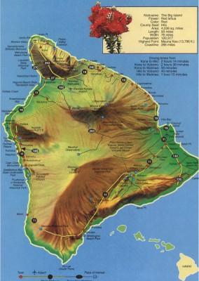 Map of the Big Island of Hawaii