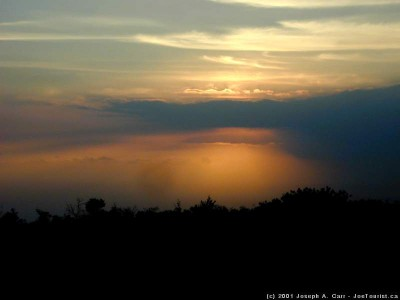 Sunset over the south Kona Coast
