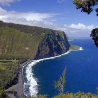 The north coastline from Waipi'o Lookout