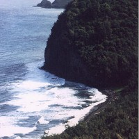 Spectacular view of the north coast from the Pololu Valley Lookout