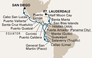 Incan Empires Cruise map