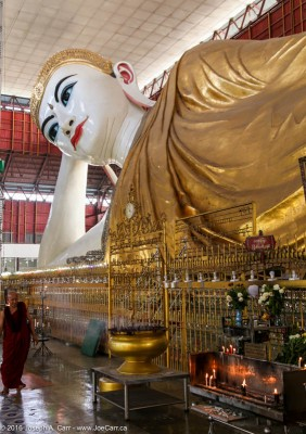 Monk, and offerings, and the Reclining Buddha