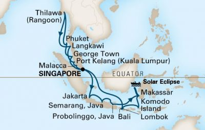Feb/Mar 2016 Solar Eclipse Cruise map in SE Asia aboard the Volendam