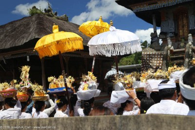 Funerary procession inside the Pura Ulun Danu temple, Bedugul, Bali, Indonesia