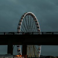 The Seattle Great Wheel on the waterfront