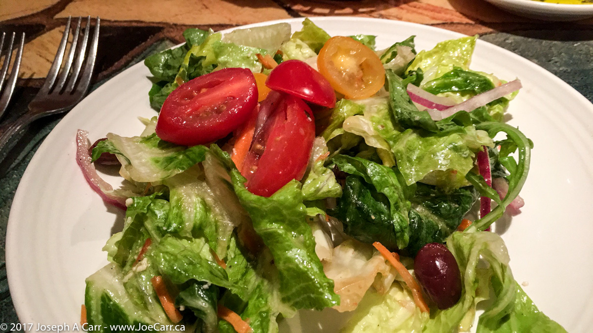 Italian salad with vinaigrette dressing