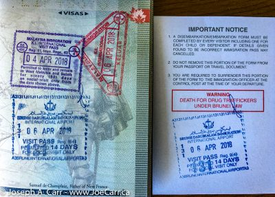 Visas from Malaysia & Brunei in my passport
