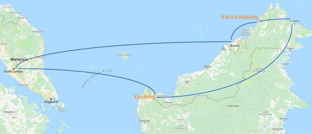 Malaysia & Borneo local flights