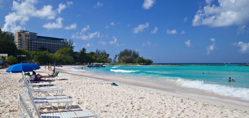 Pebble Beach and the Hilton Hotel, Aquatic Gap, Bridgetown, St. Michael, Barbados 2018-12-16, 1:48:16 AM